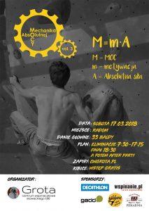 Plakat MMA3 - opis w tekście